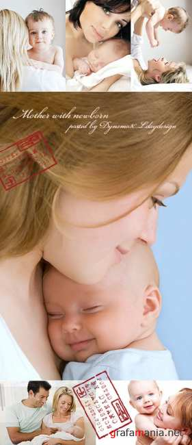 Stock Photo - Mother with newborn, family concept