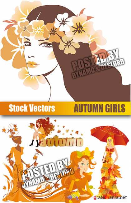 Stock Vectors - Autumn Girls