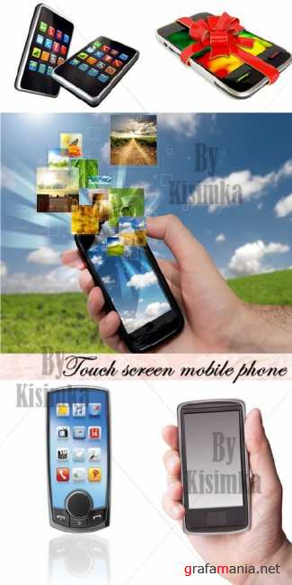 Stock Photo: Touch screen mobile phone