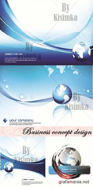 Stock vector: Business concept design