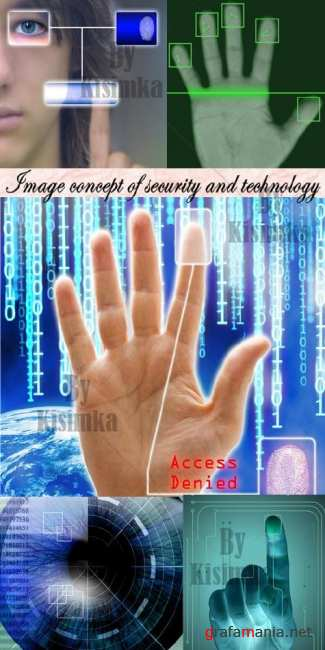Stock Photo: Image concept of security and technology