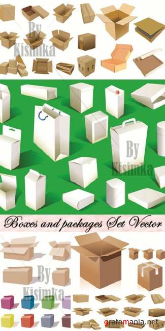 Boxes and packages Set Vector