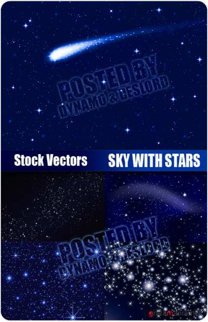 Stock Vectors - Sky with Stars