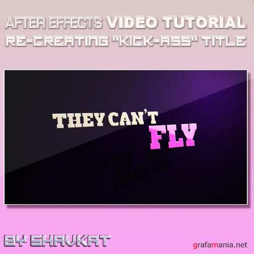 """""""Kick-Ass"""" title in AFter Effects"""