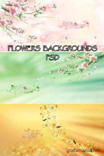 Flowers backgrounds PSD