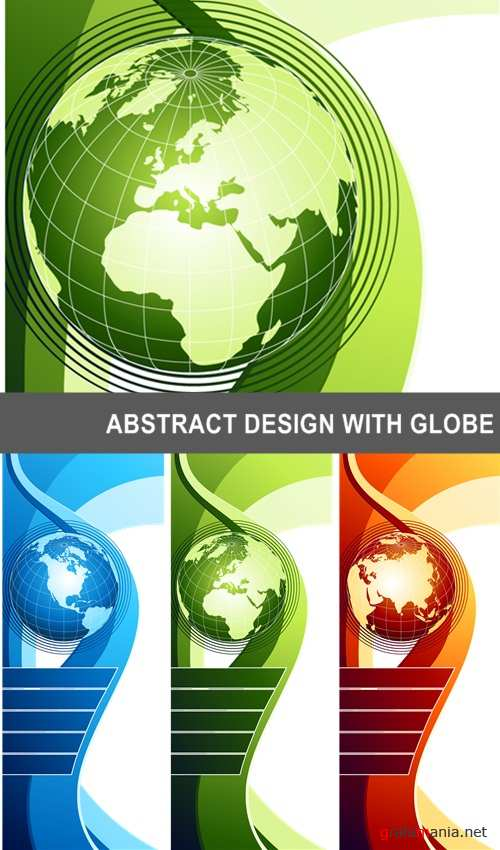 ABSTRACT DESIGN WITH GLOBE