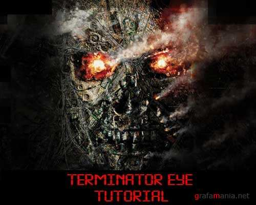 Terminator Eye Tutorial in 3Ds MAX - Photoshop - SynthEyes and After Effects
