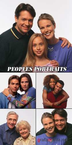 Peoples portraits clipart