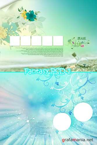 Fantasy backgrounds PSD 2