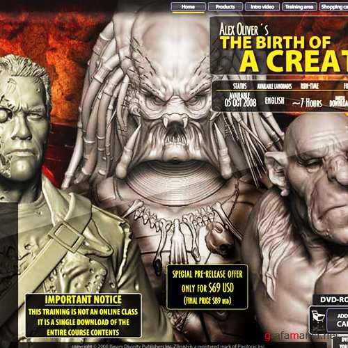 The birth of a creature Zbrush