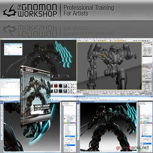 Robot Design with Josh Nizzi in 3DS Max, Photoshop and HyperShot
