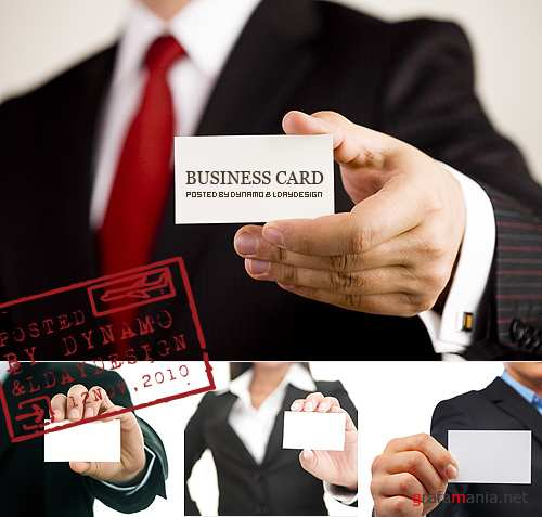 Stock Photo - Presenting Business card with space for your text