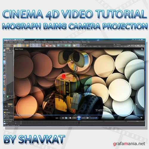 Mograph Baking and Camera Projection in Cinema 4D