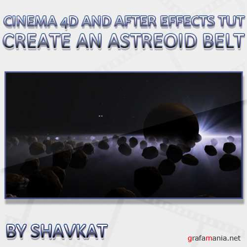Create an Asteroid Belt in Cinema 4D and After Effects