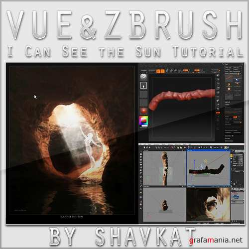 Zbrush and Vue video tutorial - I can see the Sun