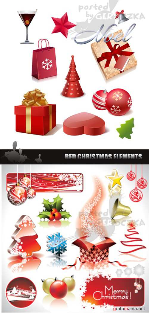Christmas red elements