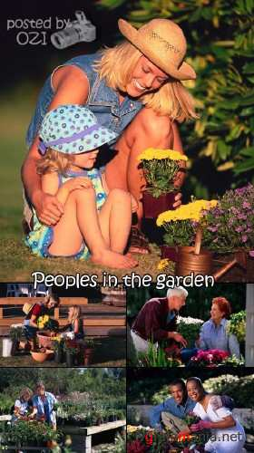 Peoples on the garden