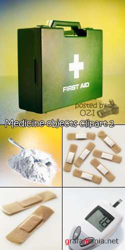 Medicine objects clipart 2