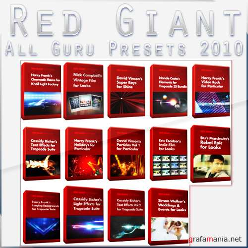 Red Giant All Guru Presets 2010 (Presets & AE Projects)