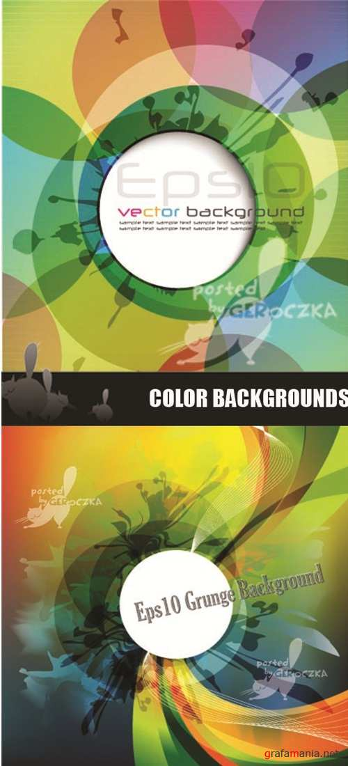 Color grunge backgrounds