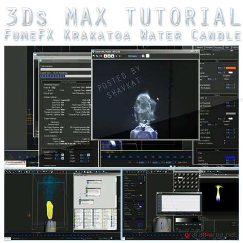 FumeFX Krakatoa Water Candle 3Ds MAX Tutorial