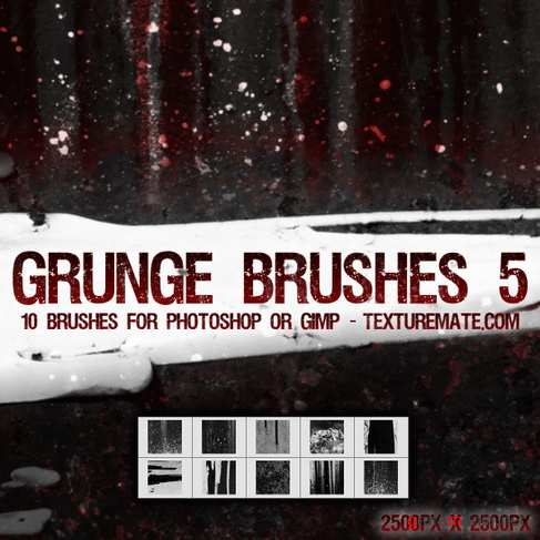 Grunge 5 Brush Pack