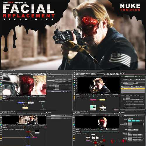 cmiVFX - Face Replacement Nuke Video Tutorial