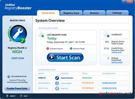 RegistryBooster 2010 ver.4.7.7.25 (RUS/2010)