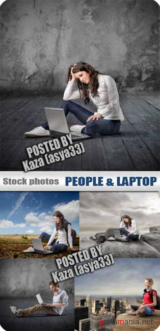 People & laptop