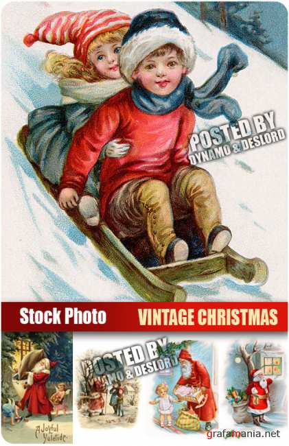 UHQ Stock Photo - Vintage Christmas