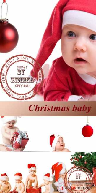 Stock Photo: Christmas baby 3