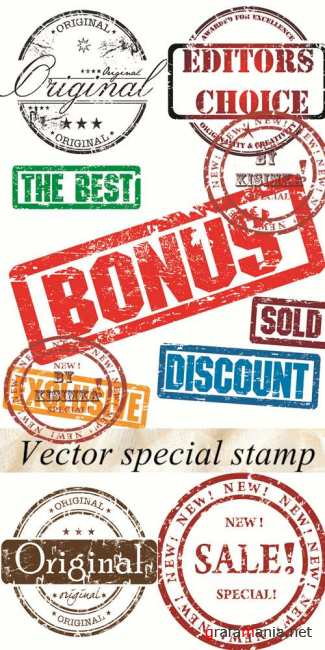 Stock: Vector special stamp