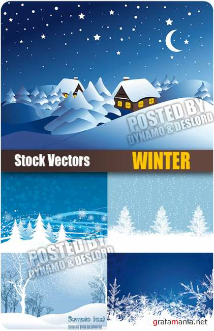 Stock Vectors - Winter