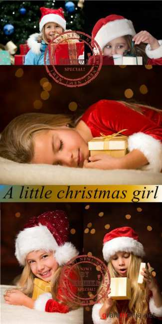 Stock Photo: A little christmas girl