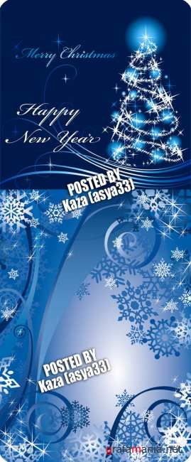 Blue New Year backgrounds