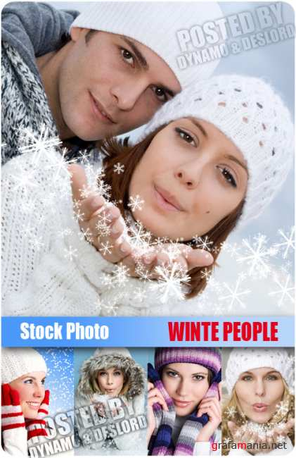 UHQ Stock Photo - Winter People