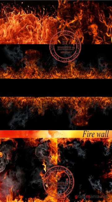 Stock Photo: Fire wall