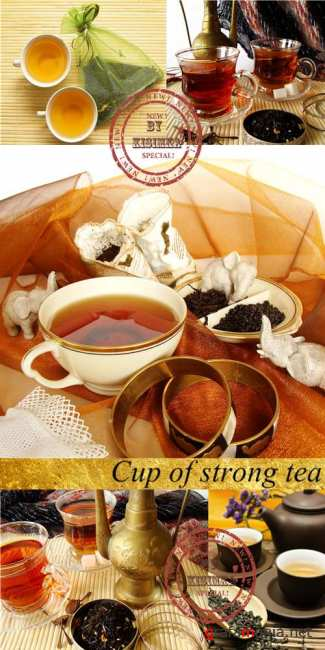 Stock Photo: Cup of strong tea