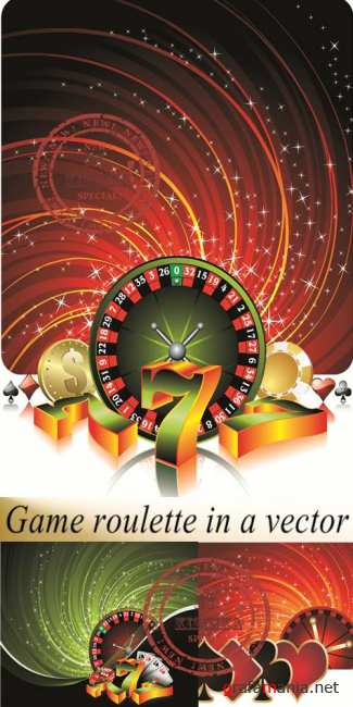 Stock: Game roulette in a vector