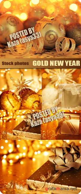 Gold New Year decorations