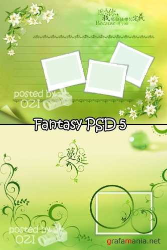 Fantasy backgrounds PSD 5