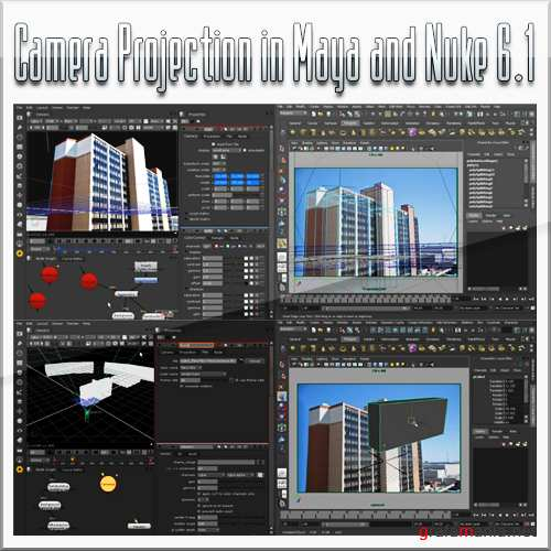 Camera Projection in Maya and Nuke 6.1 (2010)