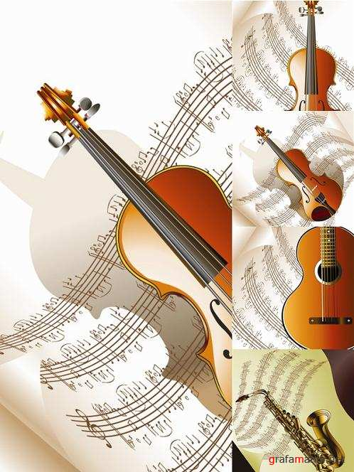Music Instruments Vector Set