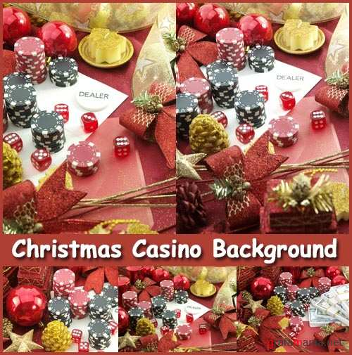Christmas Casino Background - Stock Photos