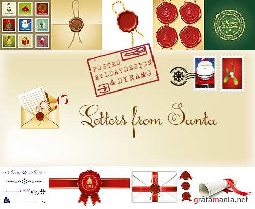 Stock Photo - Christmas mail or Letters from Santa
