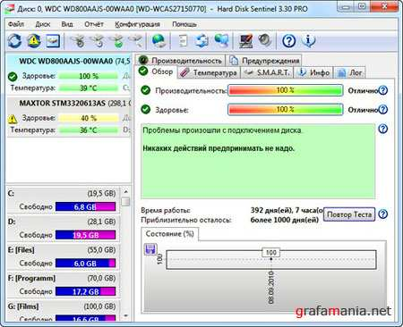 Hard Disk Sentinel Pro ver.3.50 Build 4376 (2010/RUS)