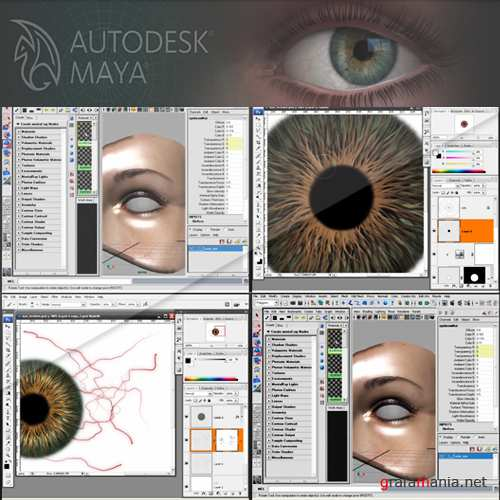 Digital-Tutors - Creating Realistic Eyes in Photoshop and Maya (2010, ENG)