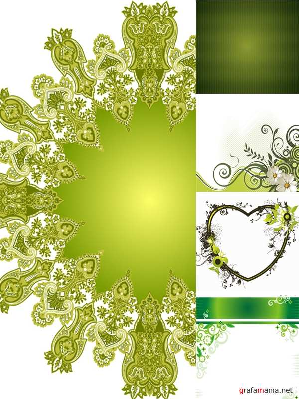 Green Patterns & Frames �2