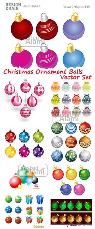 Christmas Ornament Balls Vector Pack - Ёлочные украшения