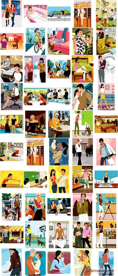 Vector Pack Young Women  Life